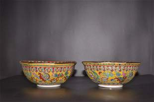 A Pair of Qing Dynasty Qianlong Period Made Mark
