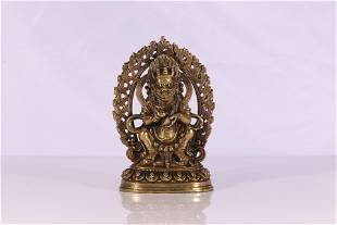 Tibet Style Lima Copper Alloy Mahakala Figure