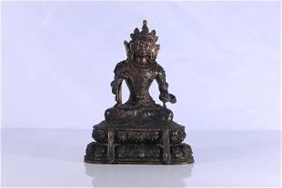 Tibet Gilt Bronze VajrasatvaFigure