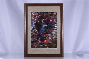 Tibet Oil Paper Kurukulla Thangka Hang Screen