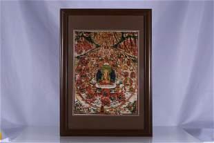 Tibet Oil Paper Tara Thangka Hang Screen