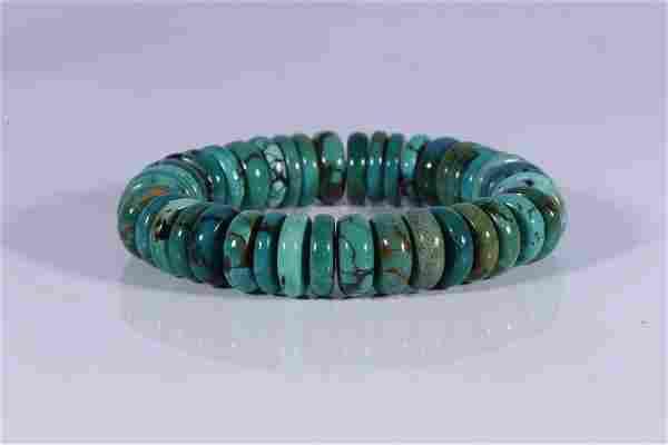 Tibet Old Turquoise Bead Bracelet