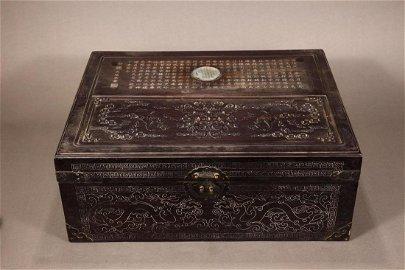 Qing Dynasty Qianlong Period - White Jade Stationary