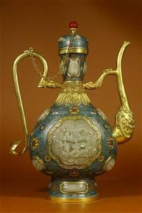 Qing Dynasty Qianlong Period - Cloisonne Enamel Floral