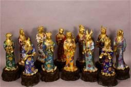 Qing Dynasty Qianlong Period - Copper Cloisonne Enamel