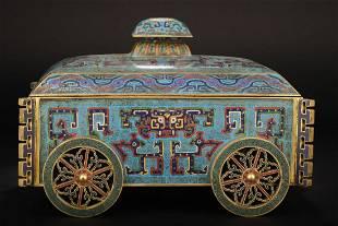 Qing Dynasty Qianlong Period - Gilt Bronze Cloisonne