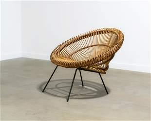 Janine Abraham (Attr.) - Rattan Lounge Chair