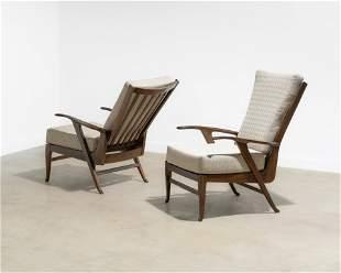 Italian Reclining Lounge Chairs