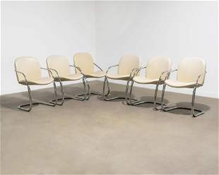 Italian Chrome Dining Chairs