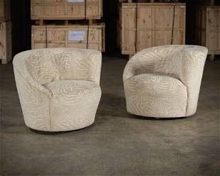 Vladimir Kagan Style - Swivel Chairs