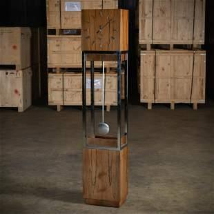 Rosewood & Chrome Case Clock