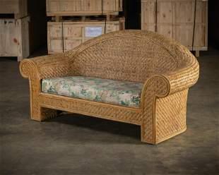 Woven Cane Sofa