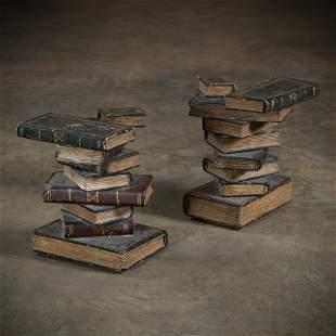 Faux Book End Tables