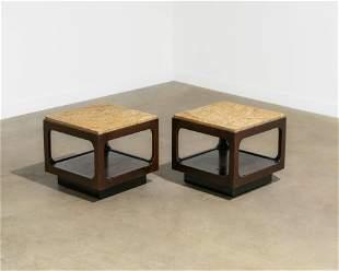 Brown Saltman - Marble End Tables