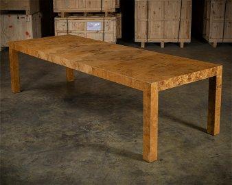 Milo Baughman (Attr.) - Burl Dining Table