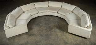 Milo Baughman Style - Crescent Sectional Sofa