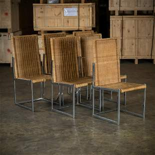 Wicker & Chrome Dining Chairs