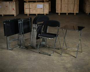 Italian Folding Chairs & Serving Tables