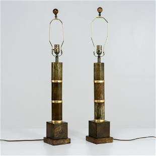 Maitland Smith (Attr.) - Stone Lamps