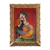 Antique painting oil in canvas Pablo Picasso