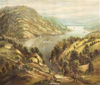 19 Century signed Hudson River School Oil On Canvas
