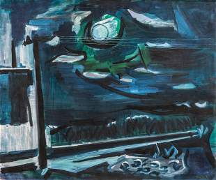 Ben Benn Oil on Canvas Sag Harbor, NY, 1961