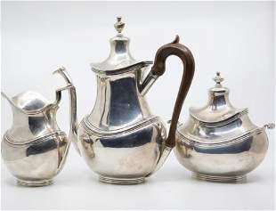 Sterling Silver Art Deco handmade tea set