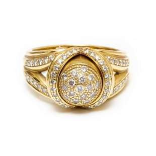 GIA 18k gold diamond removable bullet ring 67 diamonds