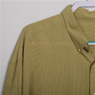 Men's Green/Yellow Button Up Shirt