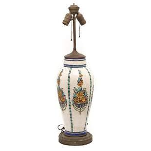 Catteau Boch Freres for Keramis Enameled Ceramic Tall