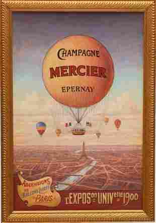Mercier Champagne Balloon Painting