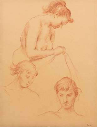 John Fenton Signed Graphite Drawing on Paper