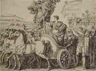 Bartolomeo Pinelli, Etching, Rome 1816