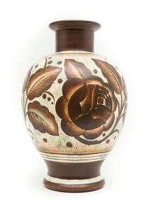 Charles Catteau, art deco ceramic vase for Boch Frères