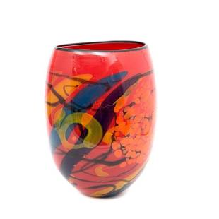 Ioan Nemtoi Signed large 20th Century art Glass Vase