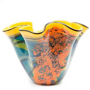 Ioan Nemtoi Large Signed 20th Century art Glass Vase