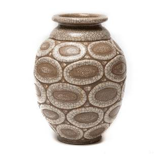 Rene Buthhaud signed art deco pottery vase