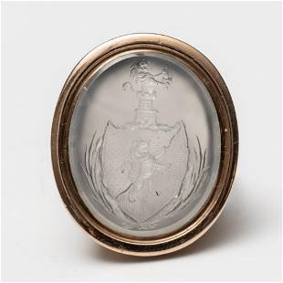 Georgian Period Gold and Chalcedony Intaglio Ring