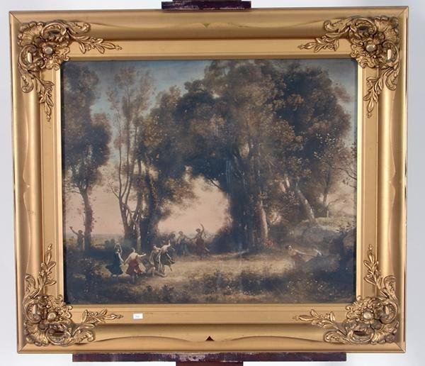 7: Early Framed Hand Colored Victorian Print