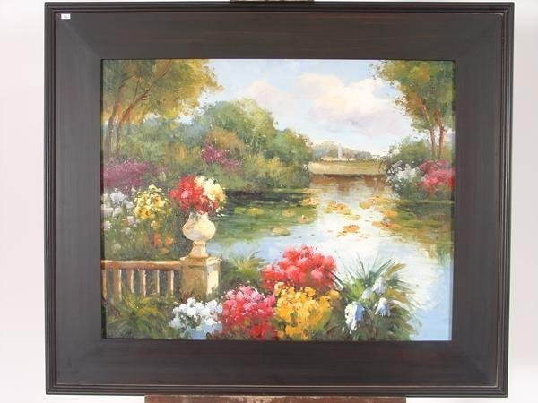 """8: Oil on Canvas """"French Country Side"""""""