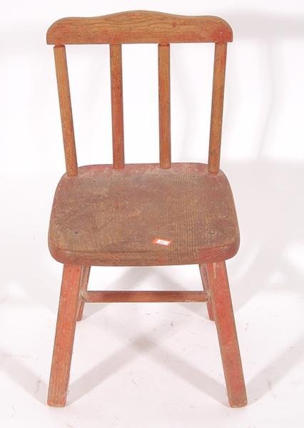 10: Childs wooden chair