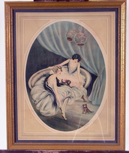 16: Vintage F.G. Henri framed print