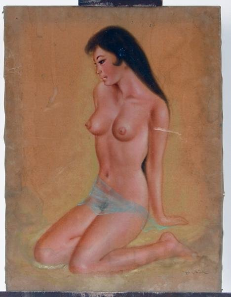 17: Signed air brushed nude