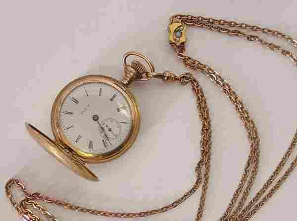 270: Ladies Elgin Gold pocket watch