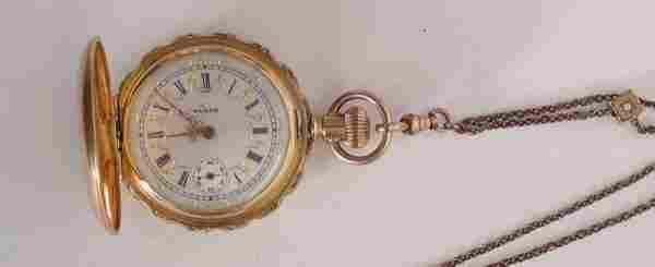 273: Ladies Elgin 14K Gold Pocket Watch