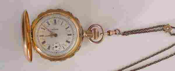 Ladies Elgin 14K Gold Pocket Watch