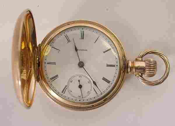 274: Ladies Illinois 14K gold Pocket Watch