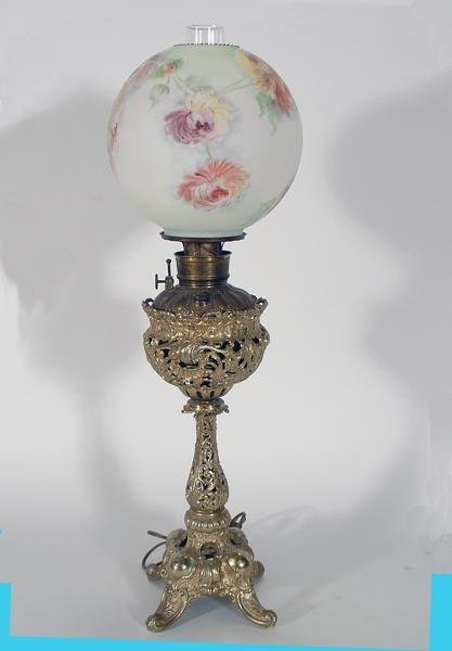 "275: Victorian ""CANDLE-STICK ""  Parlor Banquet Lamp"