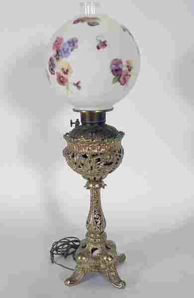 "276: Victorian ""CANDLE-STICK ""  Parlor Banquet Lamp"