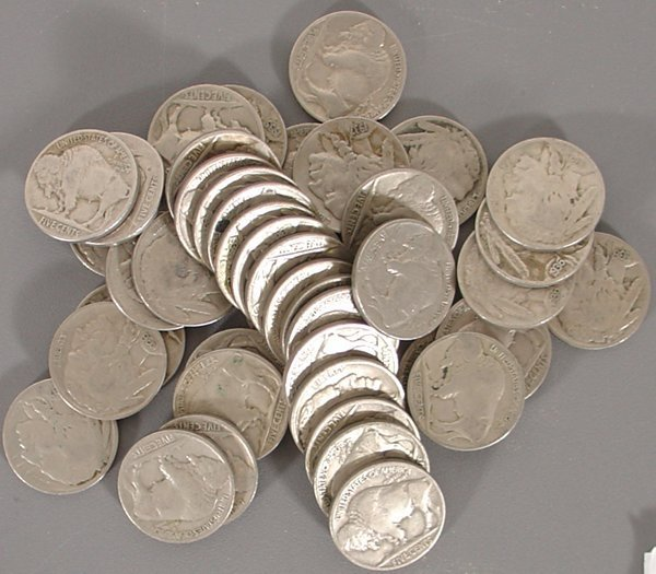 43 Buffalo Nickels with dates